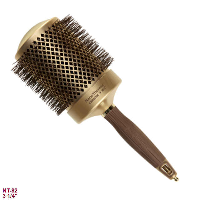 Olivia garden nanothermic ceramic ionic thermal round hair brush 3 1 4 Olivia garden nanothermic brush